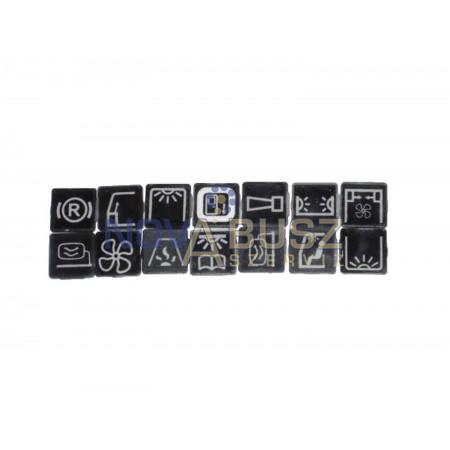 Mercedes 350 műszerfali kapcsoló jelölő piktogramok
